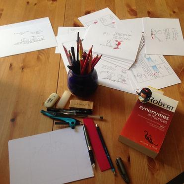 Sophie Bolloré, atelier, Les dessins de SophieB, Bordeaux. One shot, BD life !
