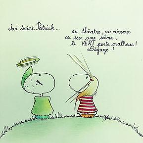 la Saint Patrick ! Sophie Bolloré (SophieB), les dessins de SophieB, Bordeaux !