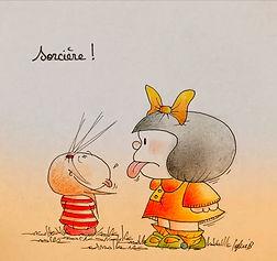 Mafalda et Henriette de Bordeaux selon SophieB. Dessins humoristiques, BORDEAUX. Sophie BOLLORÉ