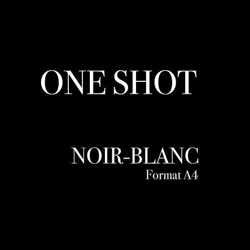 ONE SHOT A4-Noir Blanc