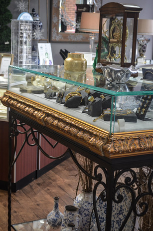 Gold Showcase at Cook's Jewelry
