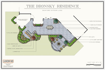 Bronsky Back Patio and Plantings Design