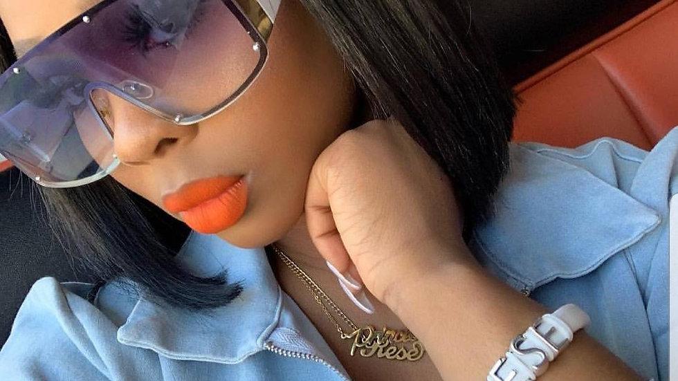 One-Piece Oversized   Sunglasses Women 2019 Rivet