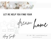 Elegant Grey & White  Real Estate Postca