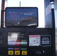 Gas pump ad