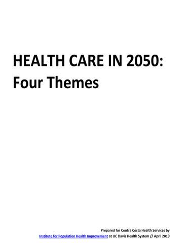 Health Care in 2050
