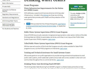EPA announces grant program for states to support lead testing in school and childcare drinking wate