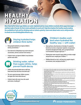 Healthy Hydration fact sheet