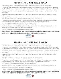 Refurbished N95 Masks FlyerndS