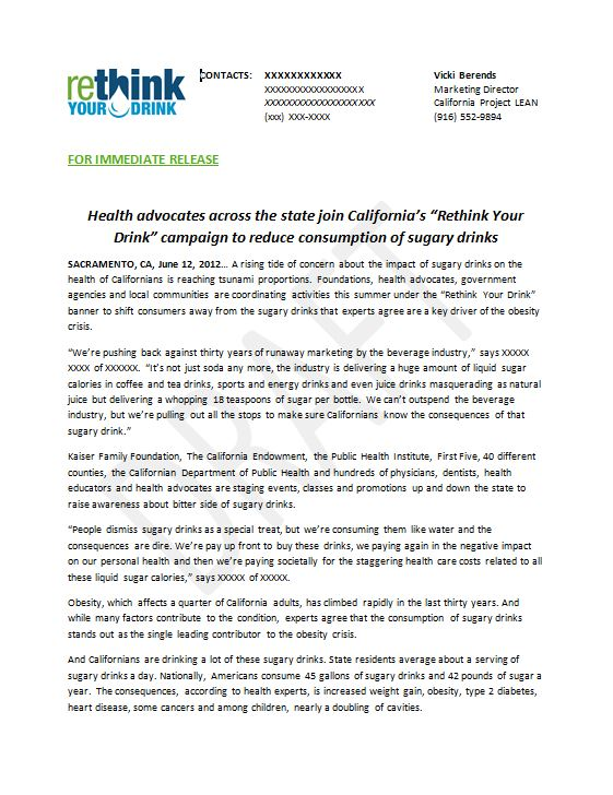 Campaign launch press release