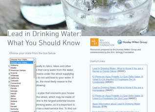 Lead & Drinking Water:  What You Should Know