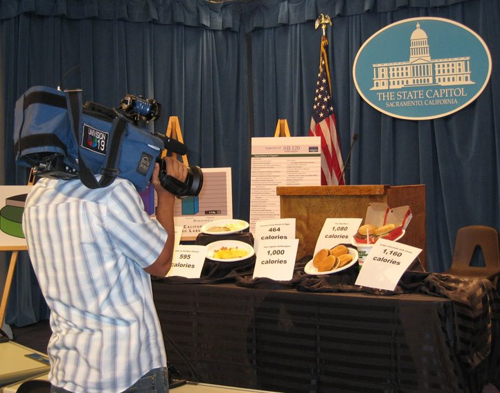 Menu labeling press conference