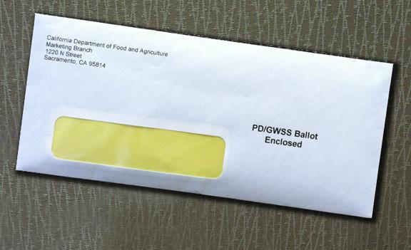 PD/GWSS Ballot in envelope