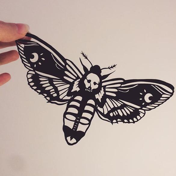 Deathshead hawk moth
