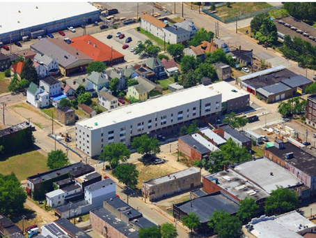 Pioneer Apartments and the Wesley Family Services New Kensington Office building