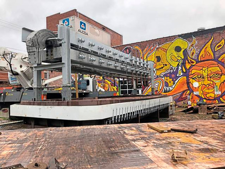 Retired Alcoa smelter, long displayed at Station Square, moves to New Kensington