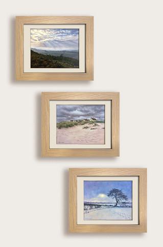 Framed oil paintings