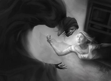 Digital Painting - Death, my forbidden lover