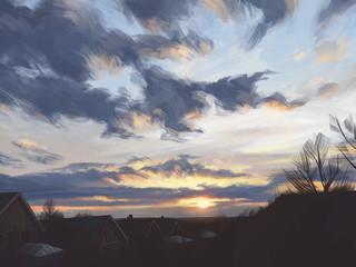 View from my window - Sky study 2