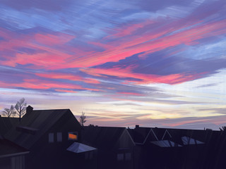 View from my window - Sky study 1