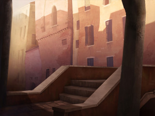 Environment painting - Jac & the Beanstalk project