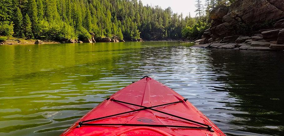 Kayaking Blue Ridge Reservoir