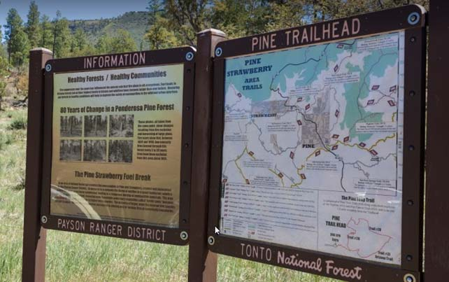 Pine Trail head Signs