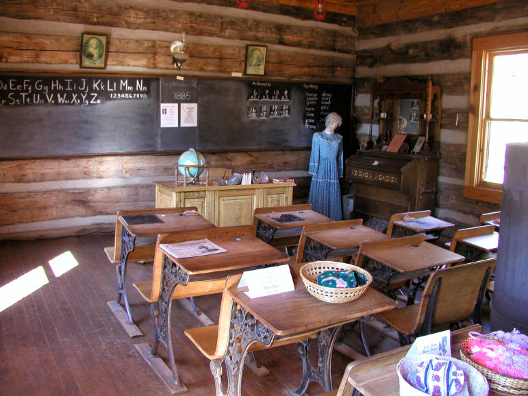 Inside the Strawberry School House