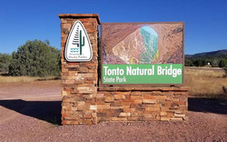Tonto Natural Bridge Sign