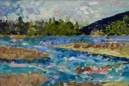 Bass Harbor Marsh by Linda Rowell-Kelley