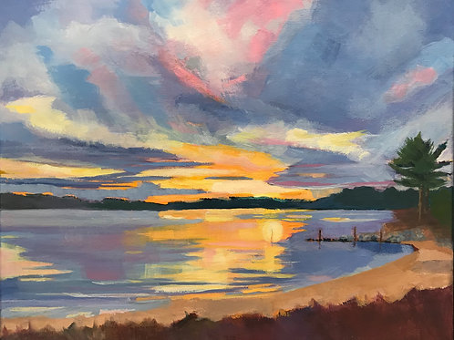 Winslow Sunset by Mary Mraz