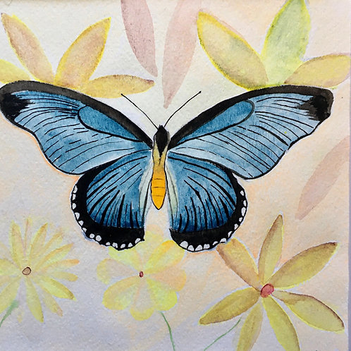 Blue Butterfly by Susan Selbe