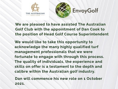 We are excited to announce the appointment of Dan Cook.