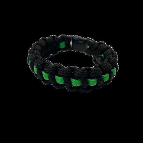 Bracelet paracord Cobra avec ligne - Vert pomme