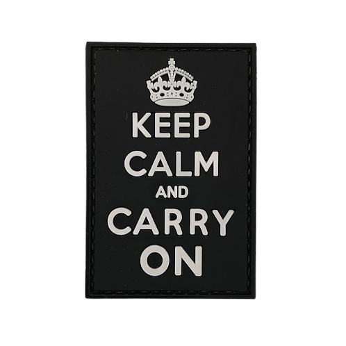 Badge KEEP CLAM CARRY ON