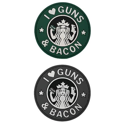 Badge GUNS & BACON