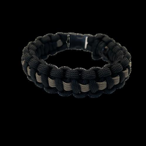 Bracelet paracord Cobra avec ligne - Taupe