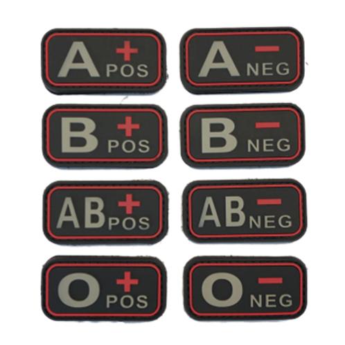 Badges GROUPES SANGUINS - Red