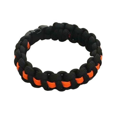 Bracelet paracord Cobra avec ligne - Orange