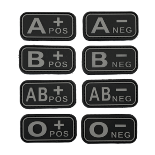 Badges GROUPES SANGUINS - Black