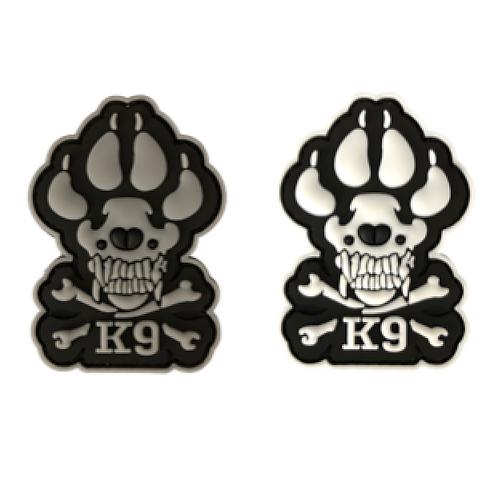 Badge K9 SKULL