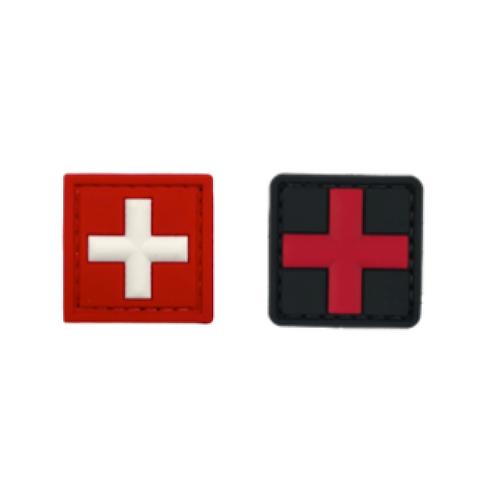 Badge MEDIC CROSS 3.0 x 3.0cm - PVC