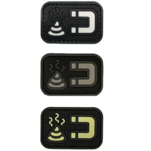 Badge SHIT MAGNET - PVC