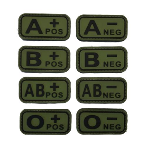 Badges GROUPES SANGUINS - Olive