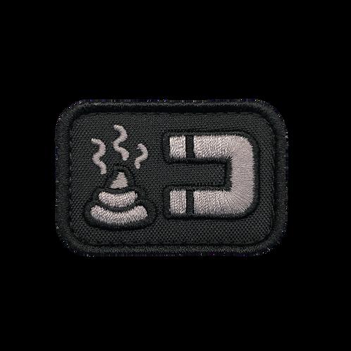 Badge SHIT MAGNET - Tissu