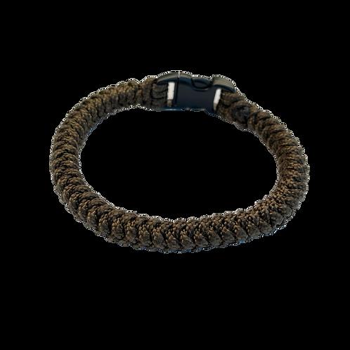 Bracelet paracord tressé fin - Brun