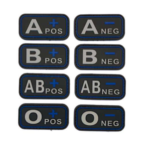Badges GROUPES SANGUINS - Blue