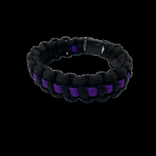 Bracelet paracord Cobra avec ligne - Violet
