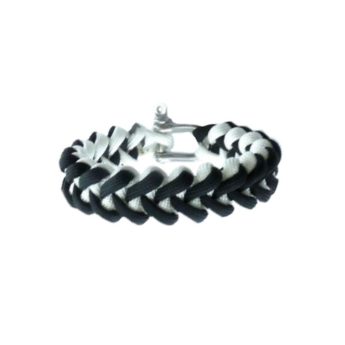 Bracelet paracord - Shark-Jaw bicolor