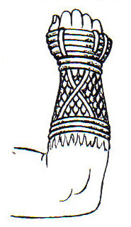 A drawing of a Roman boxing glove